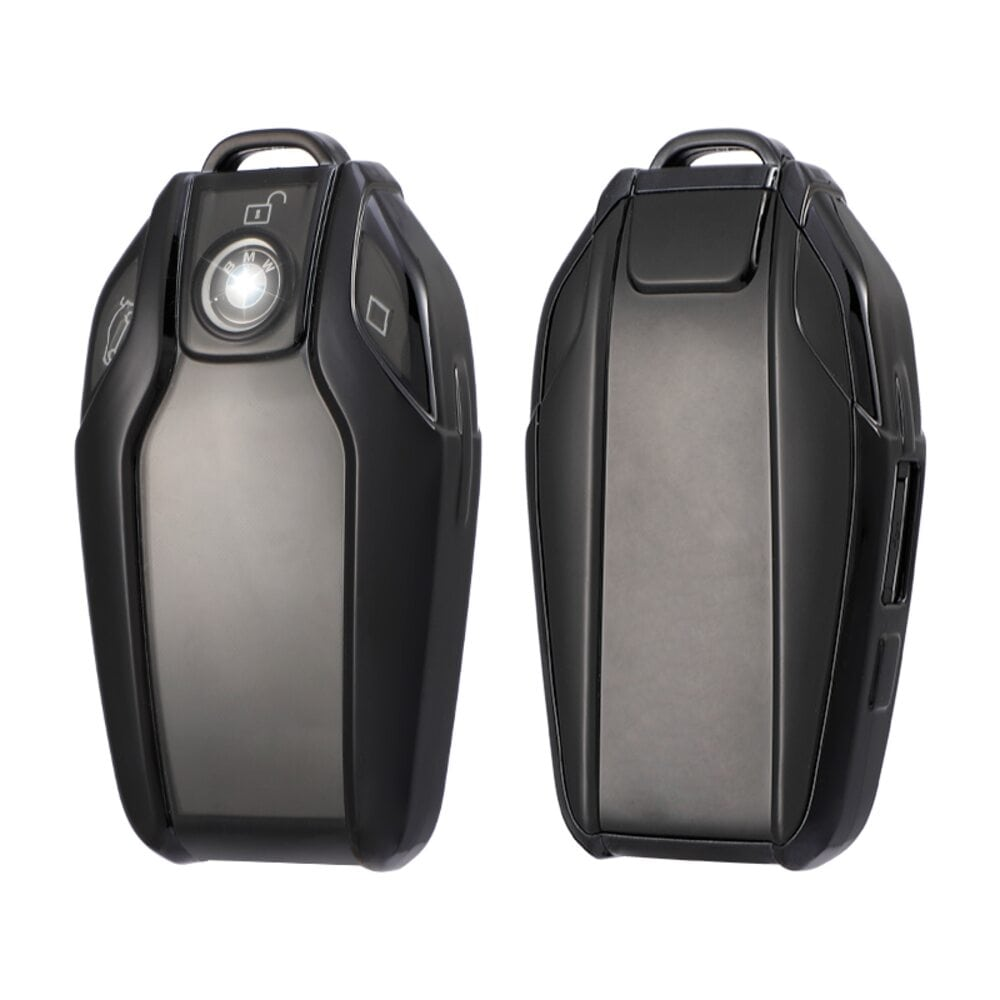 Protective Black Smart Car Key Cover Case For BMW High Quality TPU Soft Plastic