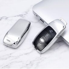 Protective Silver Car Key Cover Case For Mercedes High Quality TPU Soft Plastic