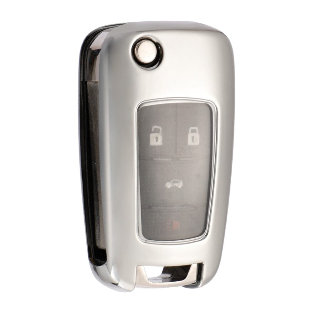 Protective Silver Car Key Cover Case For Chevrolet High Quality TPU Soft Plastic