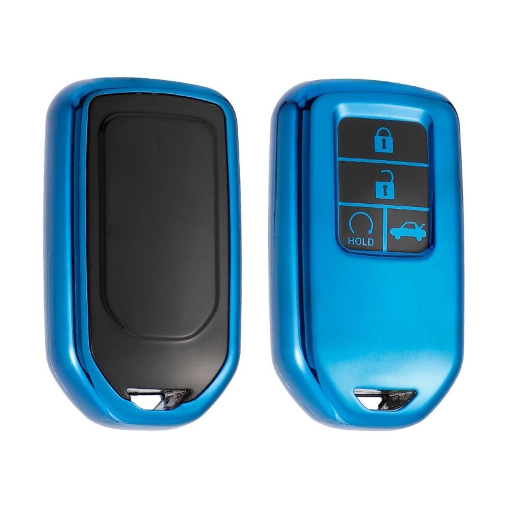 Protective Blue Car Key Cover Case For Honda High Quality TPU Soft Plastic 4 Buttons