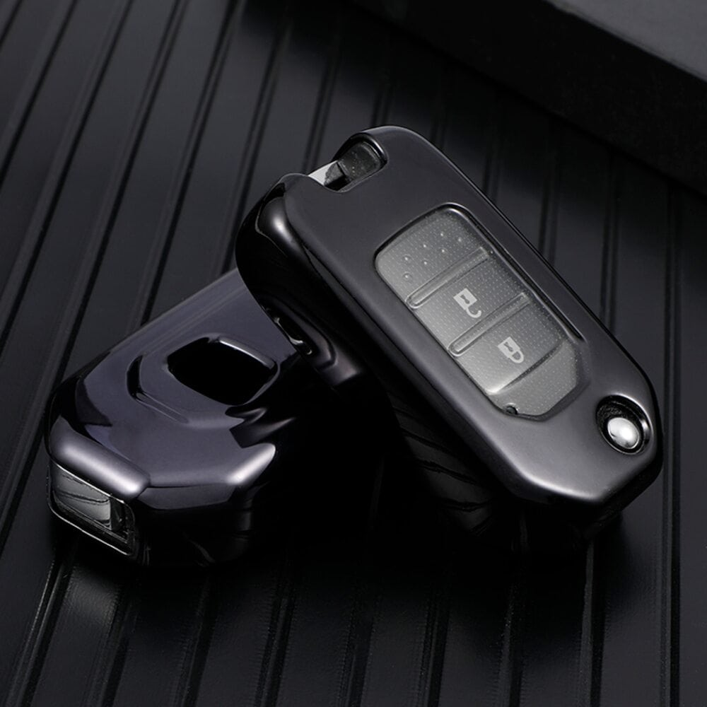 Protective Black Car Key Cover Case For Honda High Quality TPU Soft Plastic