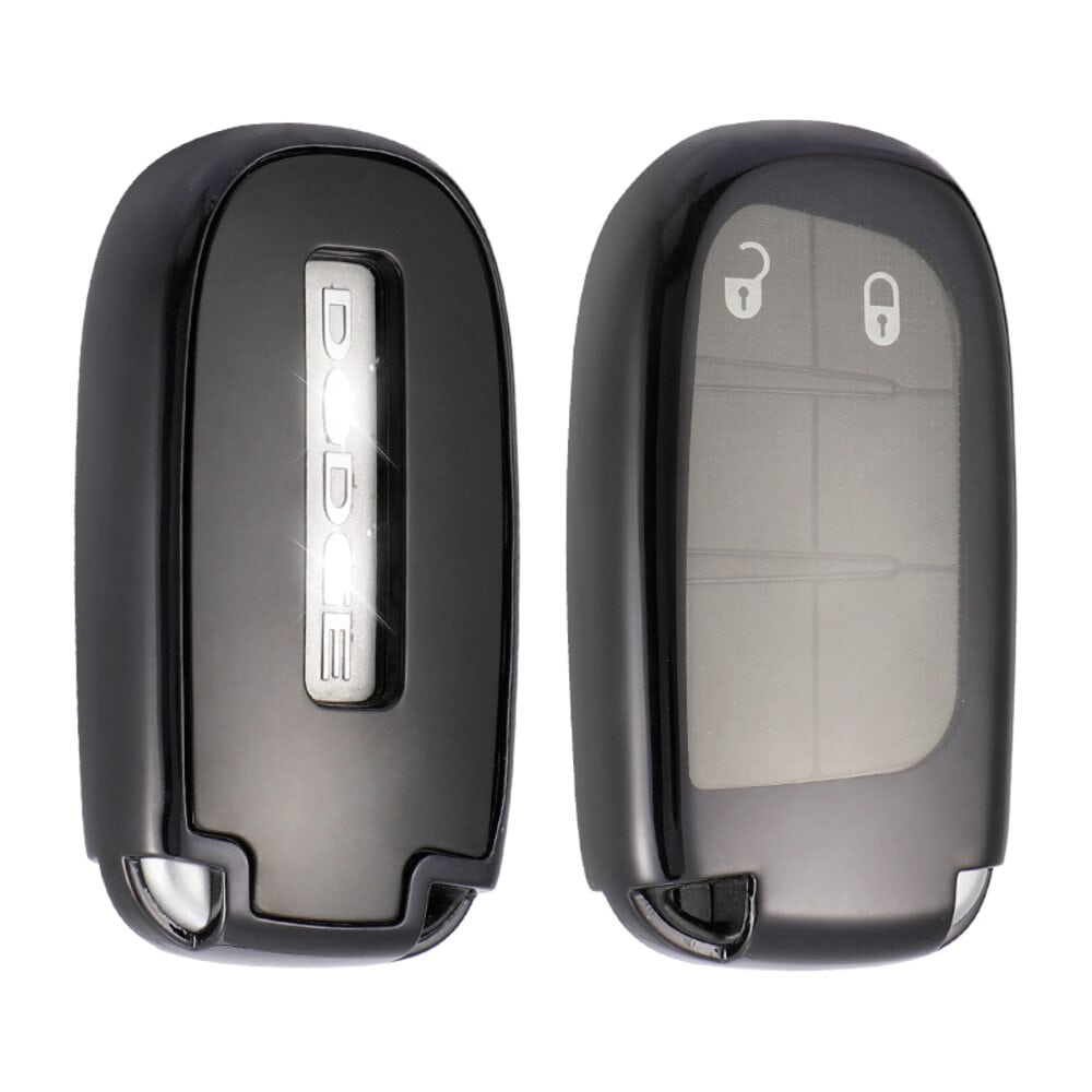 Protective Black Car Key Cover Case For Jeep High Quality TPU Soft Plastic