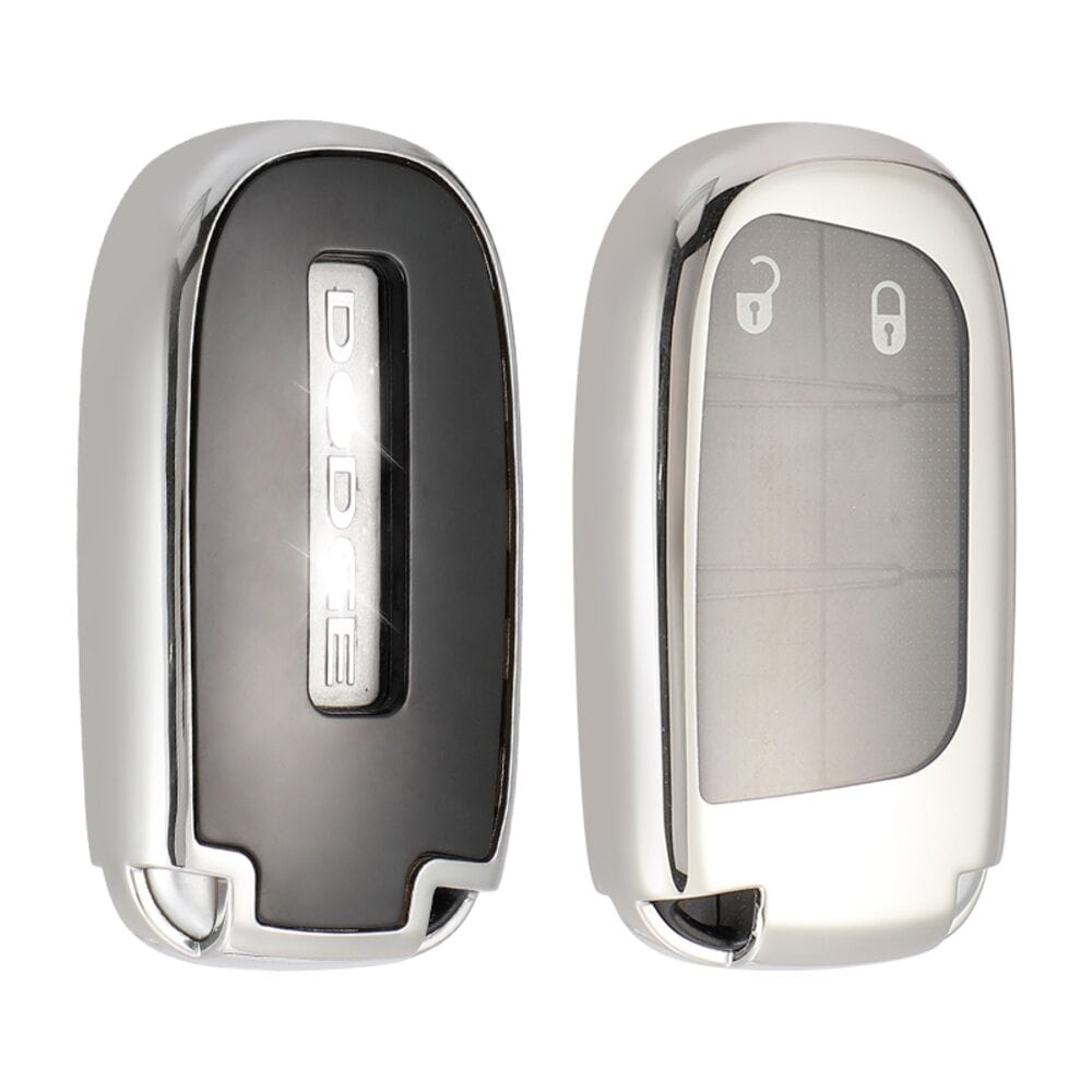 Protective Silver Car Key Cover Case For Jeep High Quality TPU Soft Plastic