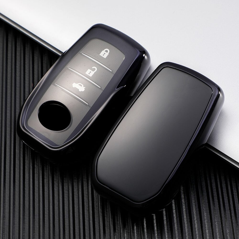 Protective Black Car Key Cover Case For Toyota High Quality TPU Soft Plastic