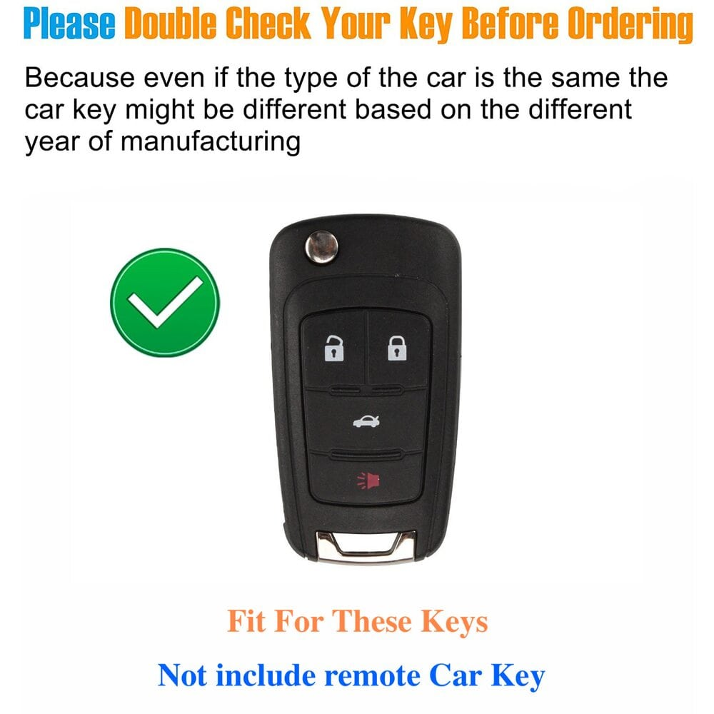 Protective Black Car Key Cover Case For Chevrolet High Quality TPU Soft Plastic