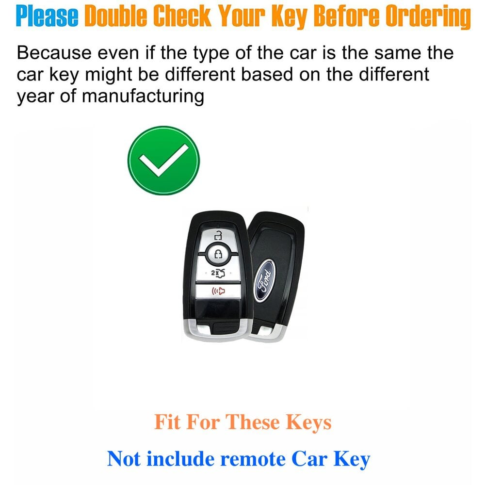 Protective Black Car Key Cover Case For Ford High Quality TPU Soft Plastic