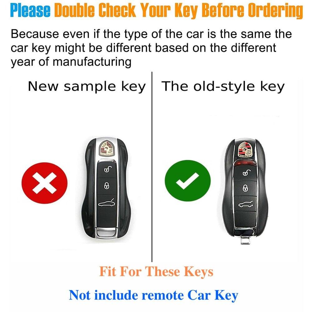 Protective Silver Car Key Cover Case For Porsche High Quality TPU Soft Plastic